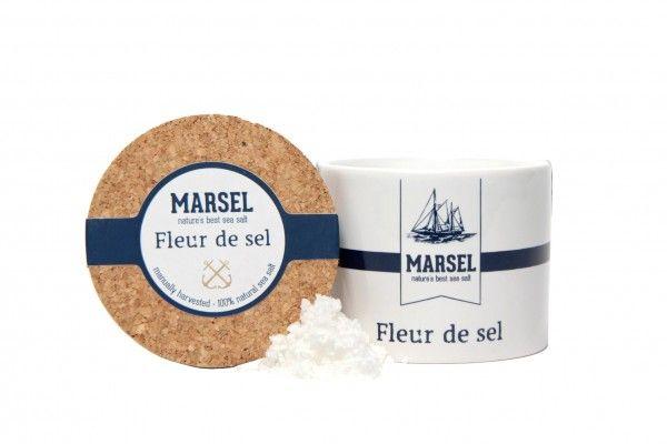 Fleur de sel 'MARSEL' dans un pot en ceramique