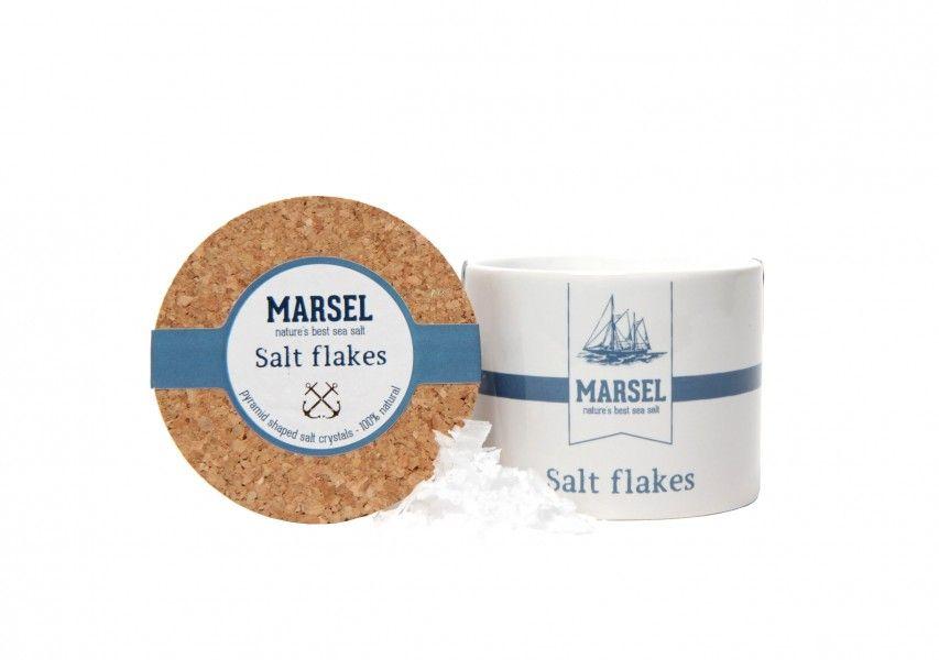 Flocons de sel 'MARSEL' dans un pot en ceramique